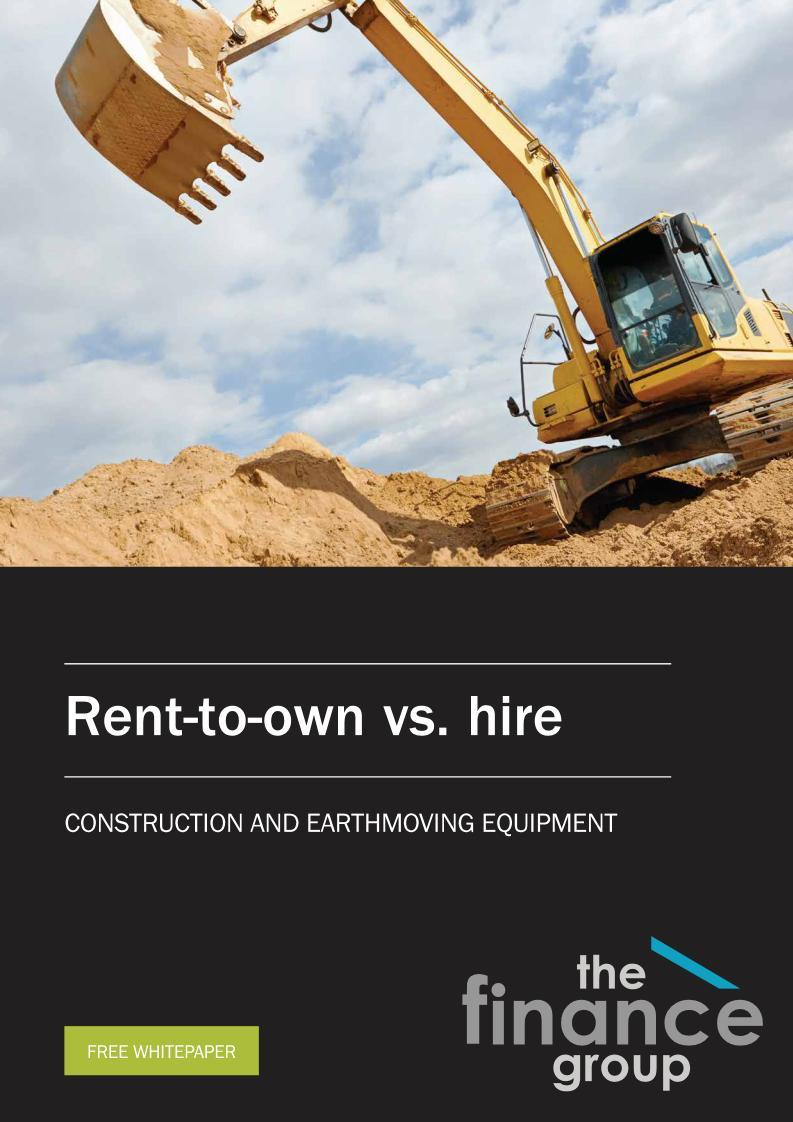 Construction and Earth moving Equipment Finance Sydney Low Doc