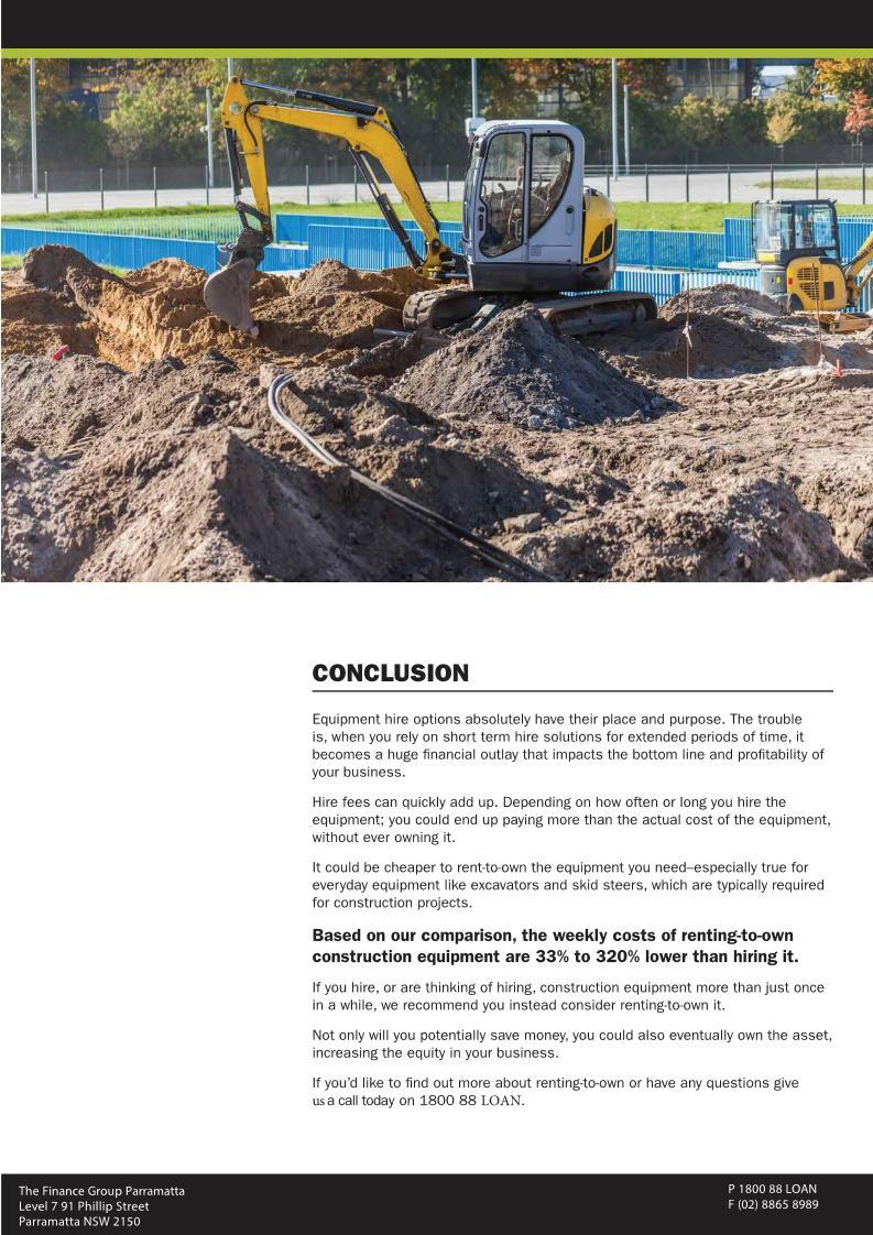 Construction and Earthmoving equipment 7 - Finance Rental Sydney